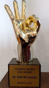 Golden Hands Award Dr. Zoe Nicolaou Oral & Maxillofacial Surgeon